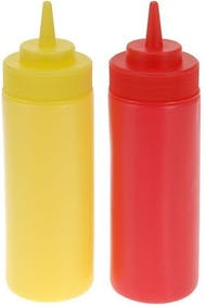 Set of 2 sauce dispensers 400 ml