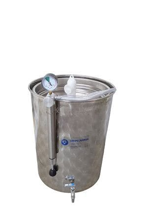 Reservoirs Toujours plein inox 200  litres avec couvercles et robinet