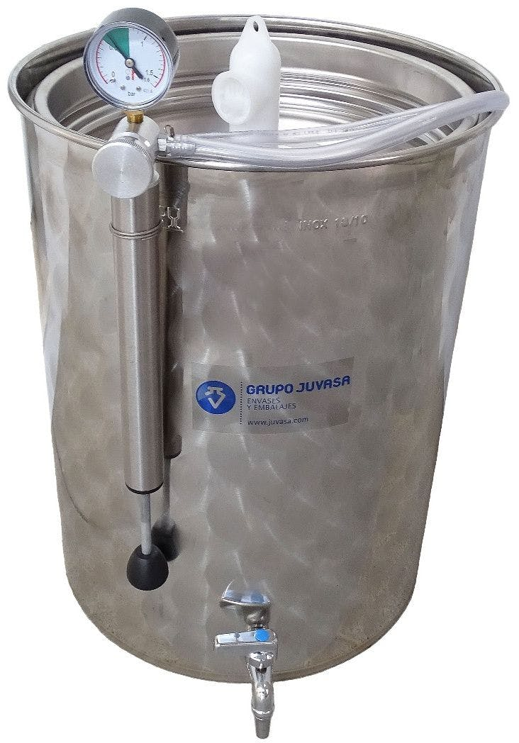 500 liters Stainless steel Variable Capacity tanks with cover and faucet