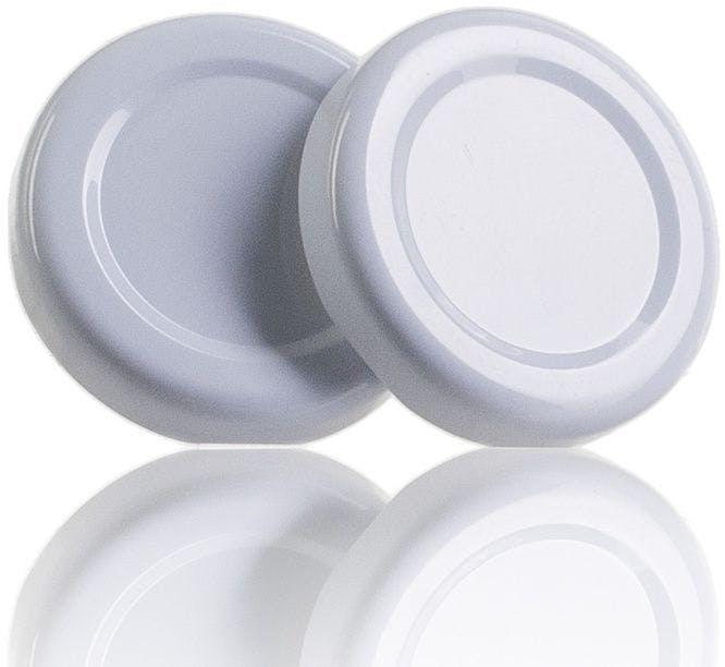 Lid TO 43 White Pasteurization without button  MetaIMGIn Tapas de cierre