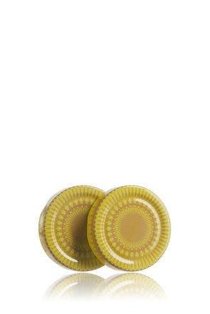 Couvercle 66 haute DWO jaune Mandala Pasteurisation sans bouton