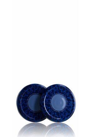 Couvercle TO 77 Bleu Stérilisation avec bouton  MetaIMGFr Tapas de cierre