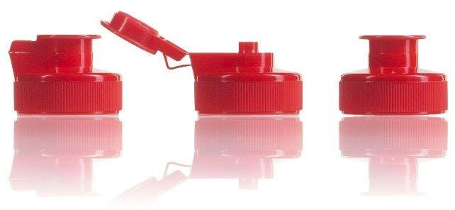 Bouchon Flip Flop rouge pour gels 38 mm