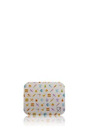 Tapa rectangular de cartón pequeña