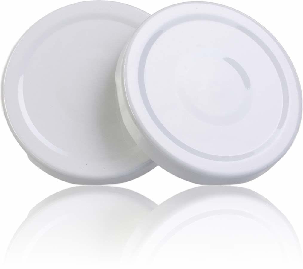 Couvercle TO 48 Blanc Sterilisation con boton  MetaIMGFr Tapas de cierre