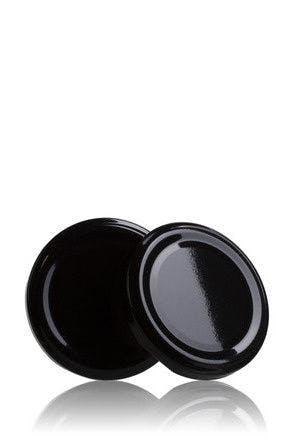 Couvercle TO 53 Noir Pasteurisation sans bouton  MetaIMGFr Tapas de cierre