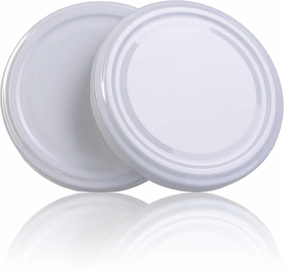 Couvercle TO 58 Blanc Sterilisation sans bouton  MetaIMGFr Tapas de cierre