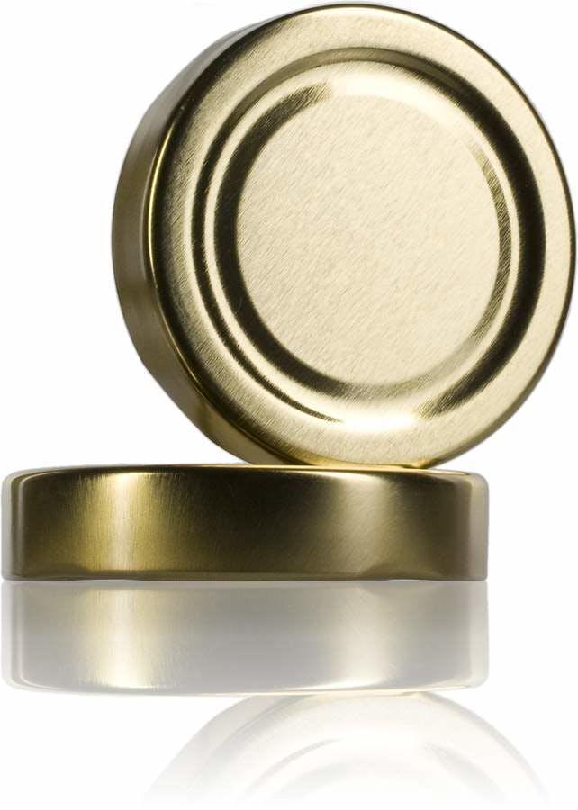 Tapa TO 63 ALTA Dorado Pasteurización sin boton -sistemas-de-cierre-tapas