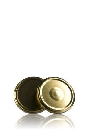 Couvercle TO 63 Doré Sterilisation con boton  MetaIMGFr Tapas de cierre