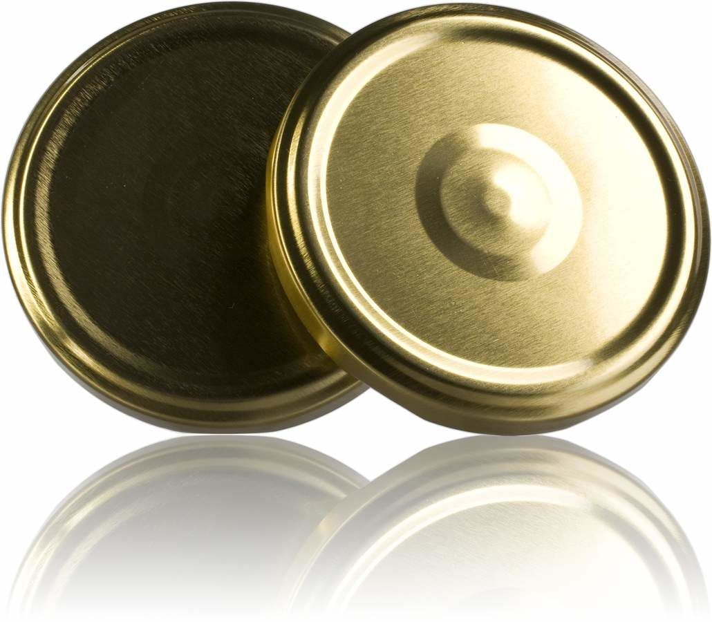 Tampa TO 63 Dorado Esterilización con boton  Sistemas de fecho Tampas