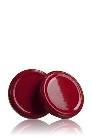 Couvercle TO 63 Rouge Pasteurisation sans bouton  MetaIMGFr Tapas de cierre
