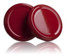 Lid TO 63 Red Pasteurization without button  MetaIMGIn Tapas de cierre