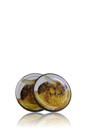Couvercle TO 77 Abeille Pasteurisation sans bouton  MetaIMGFr Tapas de cierre