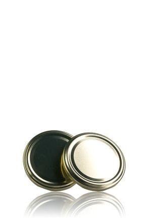 Couvercle TO 77 Doré Pasteurisation sans bouton  MetaIMGFr Tapas de cierre