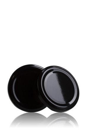 Lid TO 77 Black Pasteurization without button  MetaIMGIn Tapas de cierre