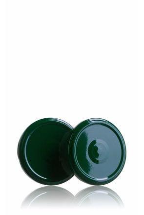 Couvercle TO 77 Vert Pasteurisation avec bouton  MetaIMGFr Tapas de cierre