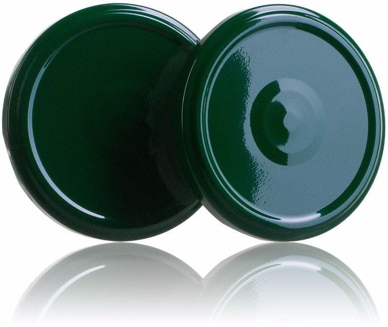 Lid TO 77 Green Pasteurization with boton  MetaIMGIn Tapas de cierre