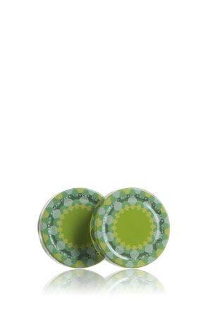 Couvercle TO 66 haute DWO décoré vert Pasteurisation sans bouton