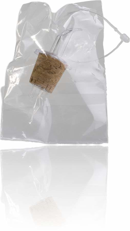 Tapon corcho dosif transparente (frasca 250) & bolsa & hilo-sistemas-de-cierre-tapones