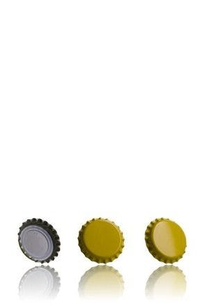 Crown 26 Stopper Yellow MetaIMGIn Tapones