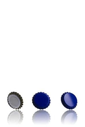 Crown 26 Stopper Dark Blue MetaIMGIn Tapones