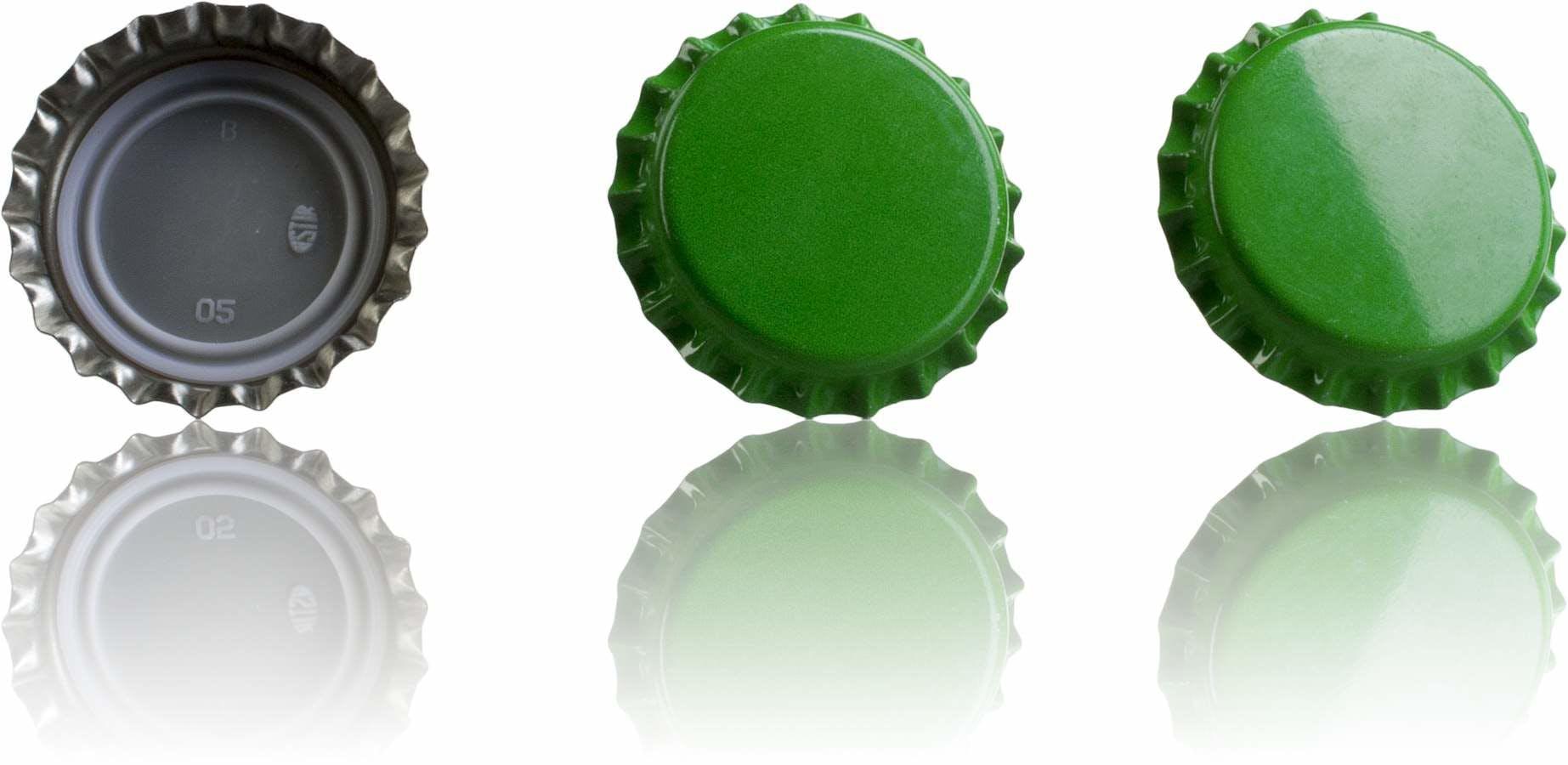Crown 26 Stopper medium Green MetaIMGIn Tapones