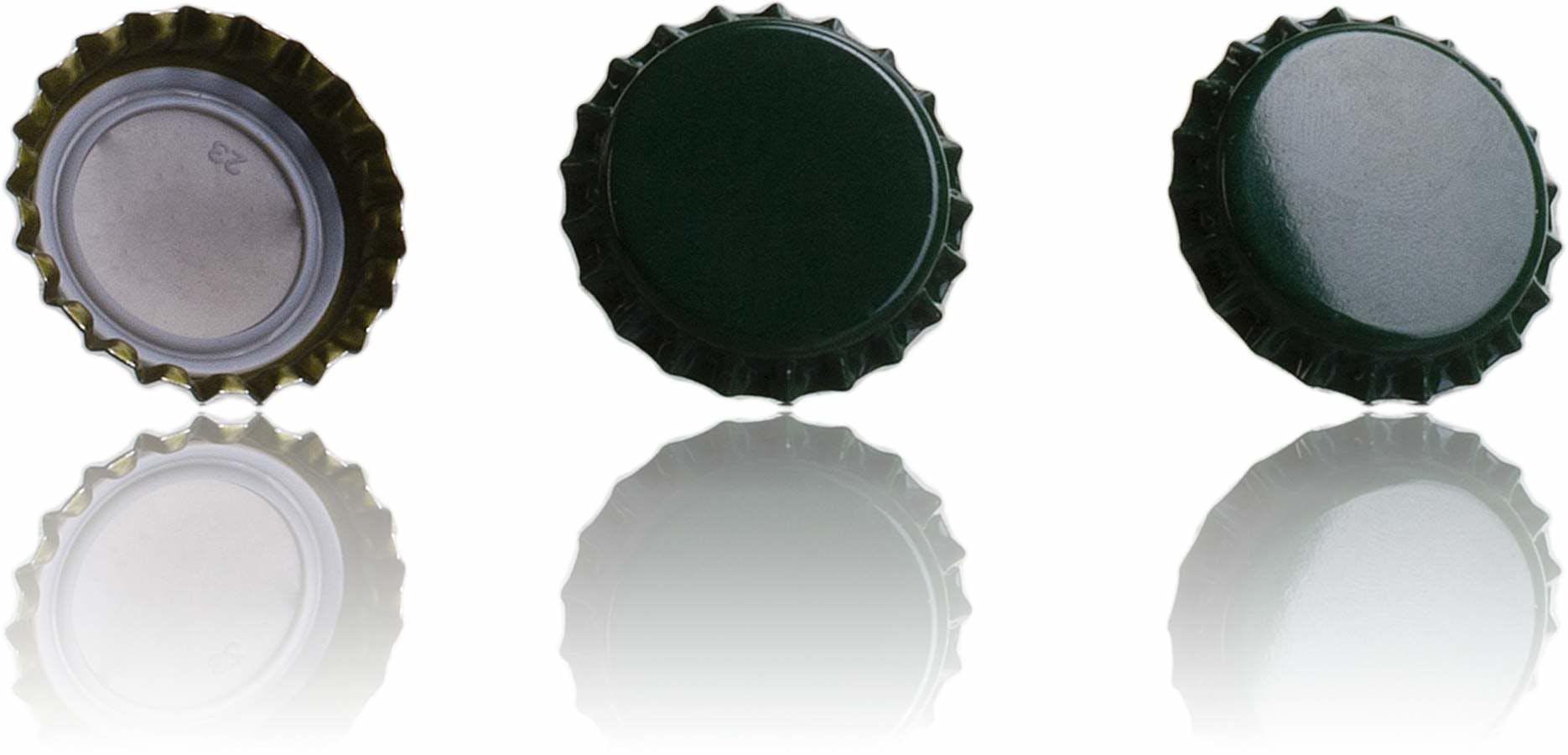 Rolha Corona 26 Verde Sistemas de fecho Rolhas