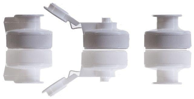 Tapón Flip Flop blanco para geles 38 mm