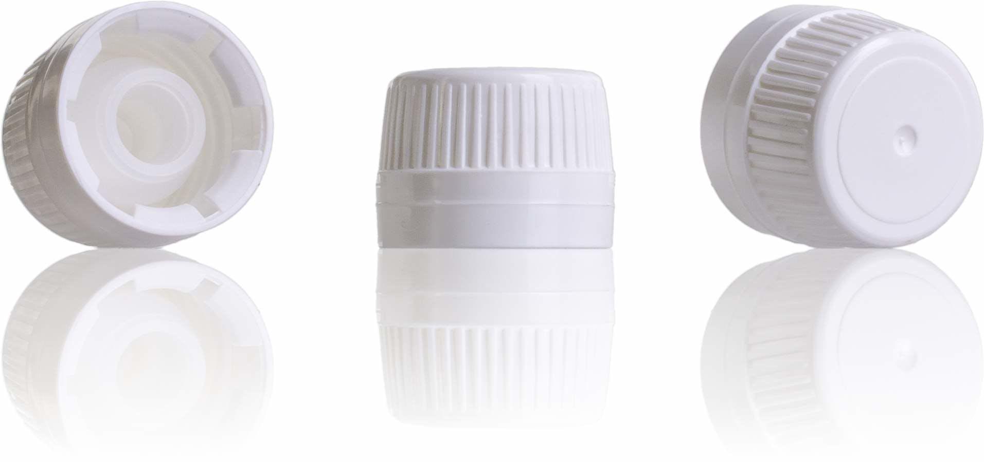 Tapon gotero ancho blanco PP28-sistemas-de-cierre-tapones