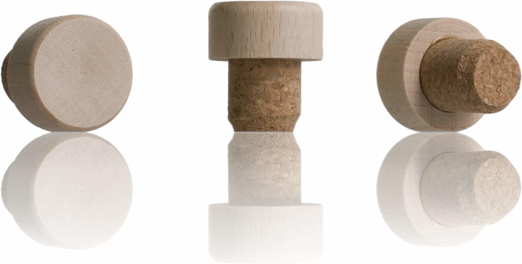 Rolha nº 19 cortiça cabeça madera frasca 100 Sistemas de fecho Rolhas