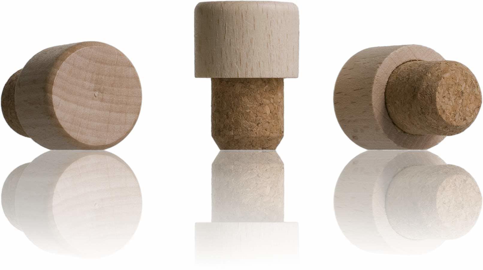 Tapon nº 21 corcho cabeza madera raffaello 500-sistemas-de-cierre-tapones