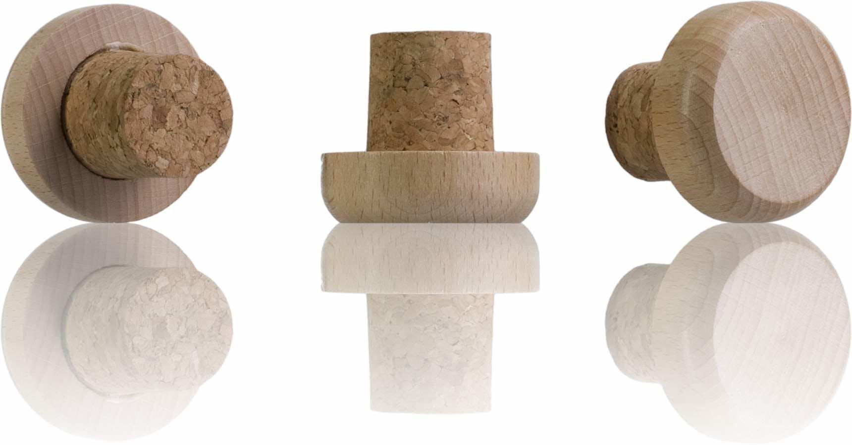 Tapon nº 9 corcho cabeza madera frasca 1000-sistemas-de-cierre-tapones