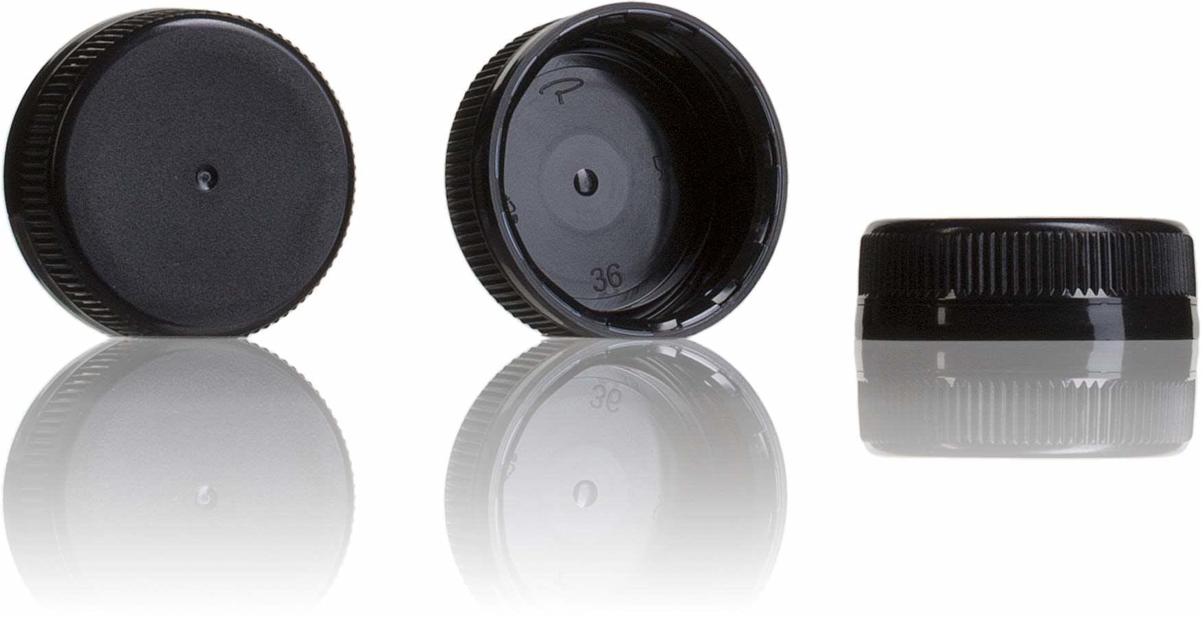 Tapon Negro 38 mm 38 33 3 entradas-sistemas-de-cierre-tapones