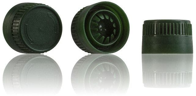 Green cap 29/21 Two pieces  systems  close  caps