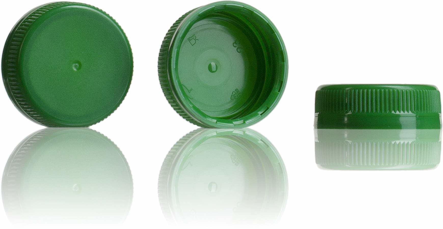 Stopper Green 38 mm 38 33 3 threads MetaIMGIn Tapones