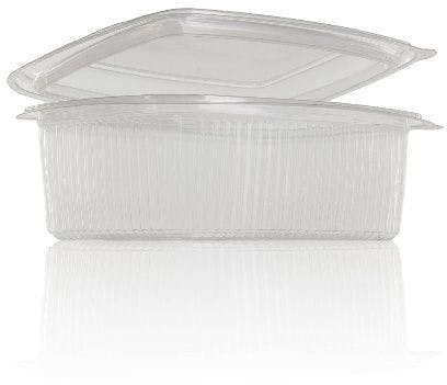 Terrine Hinge 1000 ml Polypropylene  packaging of plastic pots de plastic