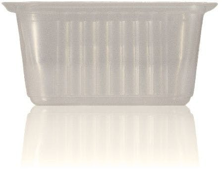 heat sealable Terrine 500 ml packaging of plastic pots de plastic