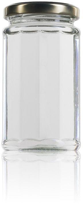 tarro de cristal facetado Dodecagonal 240 ml TO 058