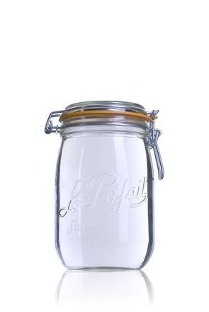 Airtight glass jar Le Parfait Super 1000 ml 1000ml BocaLPS 085mm MetaIMGIn Tarros de vidrio hermeticos Le Parfait