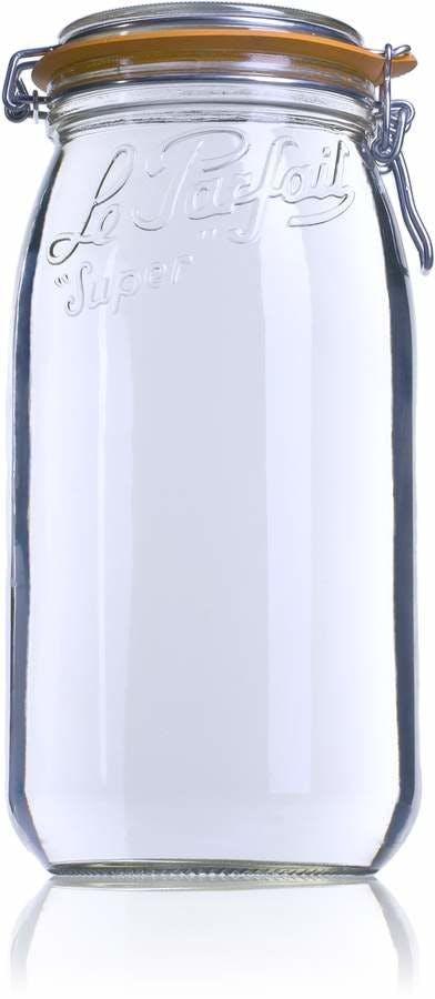 Le Parfait Super 3000 ml 100 mm Embalagens de vidro Boiões frascos de vidro y potes de cristal le parfait super terrines wiss