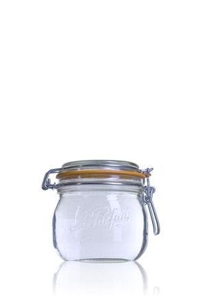 Airtight glass jar Le Parfait Super 500 ml 500ml BocaLPS 085mm MetaIMGIn Tarros de vidrio hermeticos Le Parfait