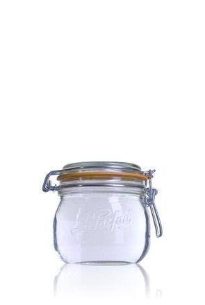 Tarro de vidrio hermético Le Parfait Super 500 ml-500ml-BocaLPS-085mm-envases-de-vidrio-tarros-frascos-de-vidrio-y-botes-de-cristal-le-parfait-super-terrines-wiss