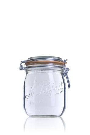 Airtight glass jar Le Parfait Super 750 ml 750ml BocaLPS 085mm MetaIMGIn Tarros de vidrio hermeticos Le Parfait