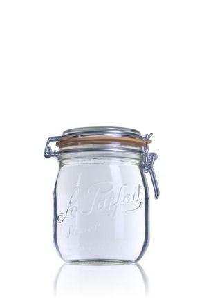 Frasco de vidro hermetico Le Parfait Super 750 ml 750ml BocaLPS 085mm Embalagens de vidro Boiões frascos de vidro y potes de cristal le parfait super terrines wiss