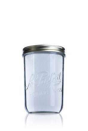 Airtight glass jar Le Parfait Wiss 1000 ml 110 mm 1000ml BocaLPW 110mm MetaIMGIn Tarros de vidrio hermeticos Le Parfait