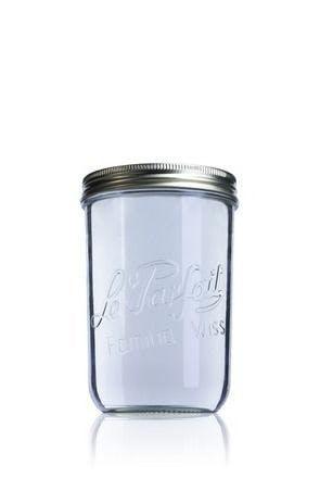 Frasco de vidro hermetico Le Parfait Wiss 1000 ml 110 mm 1000ml BocaLPW 110mm Embalagens de vidro Boiões frascos de vidro y potes de cristal le parfait super terrines wiss