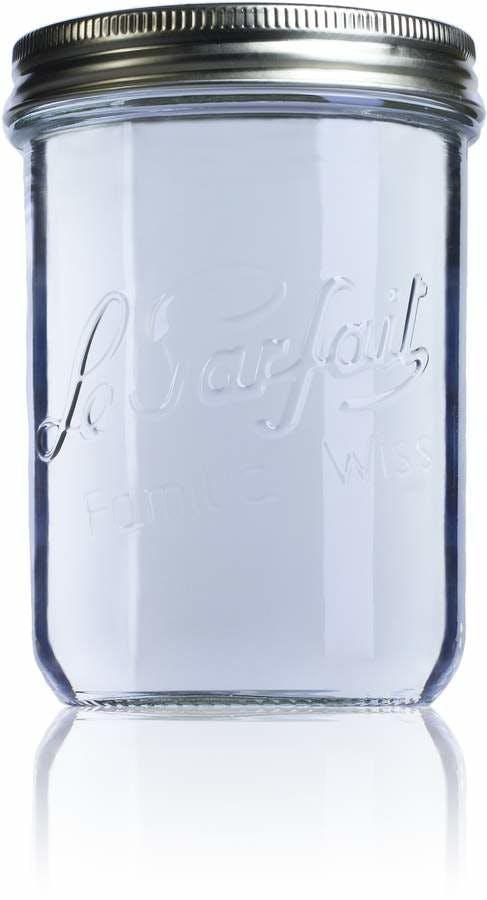 Tarro de vidrio hermético Le Parfait Wiss 750 ml-750ml-BocaLPW-100mm-envases-de-vidrio-tarros-frascos-de-vidrio-y-botes-de-cristal-le-parfait-super-terrines-wiss