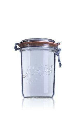 Tarro de vidrio hermético Le Parfait Terrine 1000 ml-1000ml-BocaLPS-100mm-envases-de-vidrio-tarros-frascos-de-vidrio-y-botes-de-cristal-le-parfait-super-terrines-wiss