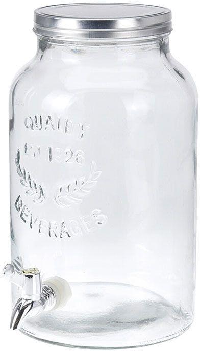 Frasco de vidro para dispensador de bebidas com torneira 5500 ml