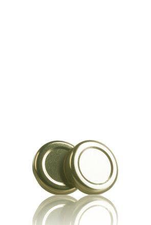 Couvercle TO 38 Doré Pasteurisation sans bouton  MetaIMGFr Tapas de cierre